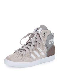 Adidas Originals | Gray Extaball High-top Sneaker | Lyst