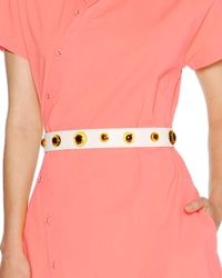 Tomas Maier - Pink Amber-stud Leather Waist Belt - Lyst