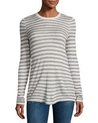 ATM - Gray Long-sleeve Striped Jersey Tee - Lyst