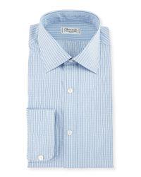 Charvet | Blue Graph Check Dress Shirt for Men | Lyst