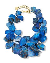 Nest - Blue Jasper Cluster Necklace - Lyst