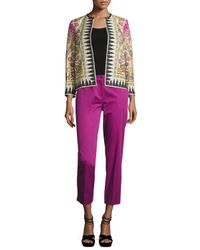 Etro - Purple Ikat-print Open Bracelet-sleeve Jacket - Lyst