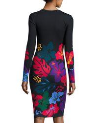 Prabal Gurung - Multicolor Printed Long-sleeve Sheath Dress - Lyst