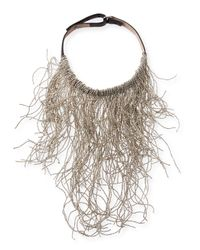Brunello Cucinelli | Metallic Wavy Monili Fringe Choker Necklace | Lyst