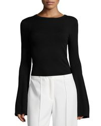MILLY | Black Bell-sleeve Pullover Top | Lyst