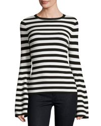 MILLY   Black Bell-sleeve Pullover Top   Lyst
