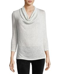 Soft Joie | Gray Estee Cowl-neck 3/4-sleeve Sweater | Lyst
