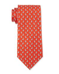 Ferragamo | Red Duck Silk Tie for Men | Lyst