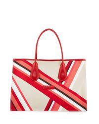 Longchamp - Red Club Medium Open Tote Bag - Lyst