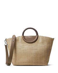 Michael Kors | Natural Skorpios Woven Market Tote Bag | Lyst