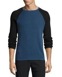 Theory Blue Savaro Breach Thermal Shirt for men