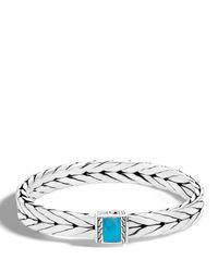 John Hardy | Metallic Men's Modern Chain Medium 9mm Sterling Silver & Turquoise Bracelet | Lyst