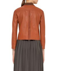 Akris Punto - Multicolor Perforated Leather Bomber Jacket - Lyst