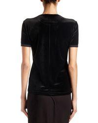 Givenchy - Black Flamingo-print Velvet Tee - Lyst