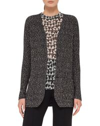 Akris - Multicolor Cotton Tweed Long-sleeve Cardigan - Lyst