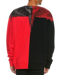Marcelo Burlon - Red Paz Long-sleeve Colorblock Wing Sweatshirt for Men - Lyst