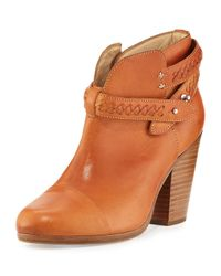 Rag & Bone | Natural Harrow Belted Leather Ankle Boot | Lyst