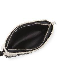 The Row | Black Embellished Tweed Mini Tassel Wristlet Bag | Lyst