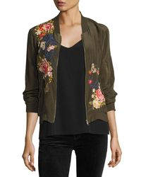 Johnny Was | Multicolor Lucy Crepe De Chine Bomber Jacket | Lyst