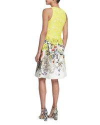 Monique Lhuillier - Multicolor Sleeveless Fit-&-flare Dress - Lyst