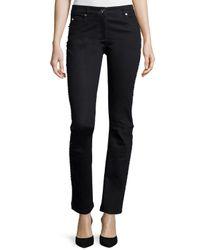 ESCADA - Black Embellished Straight-leg Jeans - Lyst