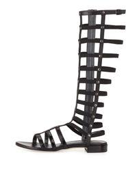 Stuart Weitzman - Brown Nappa Leather Gladiator Sandals - Lyst