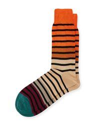 Paul Smith | Brown Fialor Striped Colorblock Socks for Men | Lyst