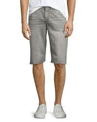 True Religion | Gray Geno Overdye Active Slim-fit Denim Shorts for Men | Lyst