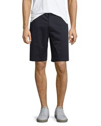 Vince | Blue Cotton Sateen Urban Short for Men | Lyst
