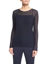 ESCADA | Blue Needle-drop Sweater With Tank | Lyst