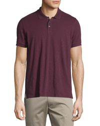 Vince | Purple Short-sleeve Slub Polo Shirt for Men | Lyst
