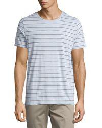 Vince | Blue Shadow-stripe Short-sleeve Tee for Men | Lyst