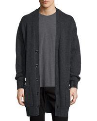 Vince | Multicolor Long Heathered V-neck Cardigan for Men | Lyst