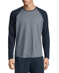 Vince | Multicolor Colorblock Raglan-sleeve Baseball Shirt for Men | Lyst