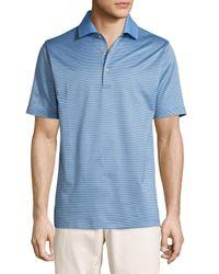 Peter Millar   Purple Ophelia Jacquard Cotton Lisle Polo Shirt for Men   Lyst