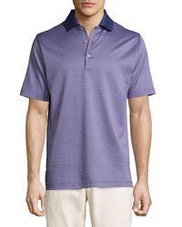 Peter Millar - Purple Ophelia Jacquard Cotton Lisle Polo Shirt for Men - Lyst