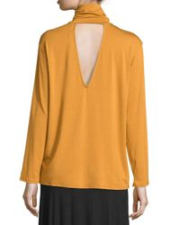 Rachel Pally | Orange Marla Cutout Turtleneck Top | Lyst