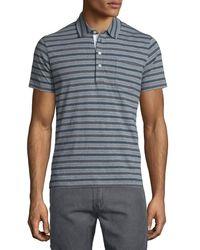 Billy Reid | Blue Striped Short-sleeve Polo Shirt for Men | Lyst
