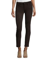 Joe's Jeans - Brown The Icon Faux-suede Ankle Jeans - Lyst