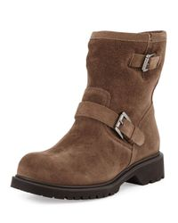 La Canadienne Brown Hayes Fur-lined Buckled Mid-calf Boot