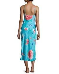 Natori - Blue Manila Satin Nightgown - Lyst