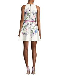 Ted Baker White Samm Passion Floral-print Skater Dress