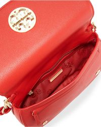 Tory Burch - Red Jamie Leather Clutch Bag - Lyst