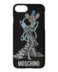 Moschino - Black Rat-a-porter Fashion Rat Iphone 6s/7 Phone Case - Lyst