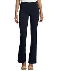 Avenue Montaigne - Blue Bellini Crepe Flare-leg Pants - Lyst