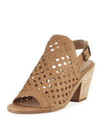 Eileen Fisher Natural Rory Woven Leather Slingback Sandal