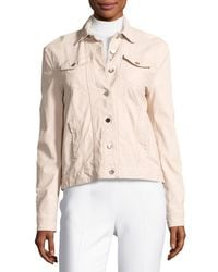 ATM | Natural Leather Button-front Jacket | Lyst