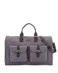 Hook + Albert   Gray Melange Carry-on Garment Weekender Bag   Lyst