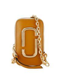 Marc Jacobs Brown Hotshot Zip-around Phone Pouch