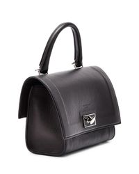 Givenchy - Black Shark Small Leather Satchel  - Lyst